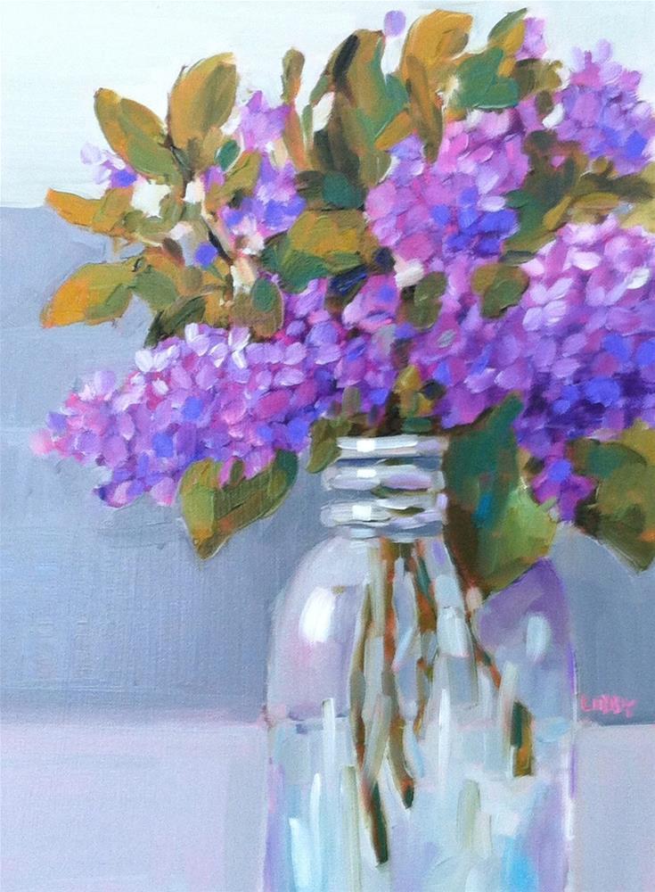 """Dream of Lilacs"" original fine art by Libby Anderson"