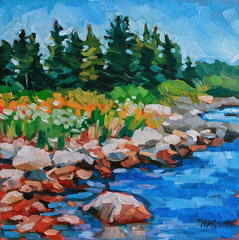 """""""Blue Waters"""" original fine art by Mary Anne Cary"""