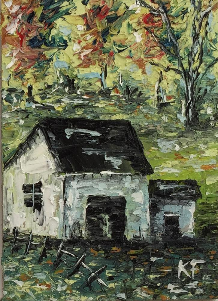 """Country Barn"" original fine art by Ken Fraser"