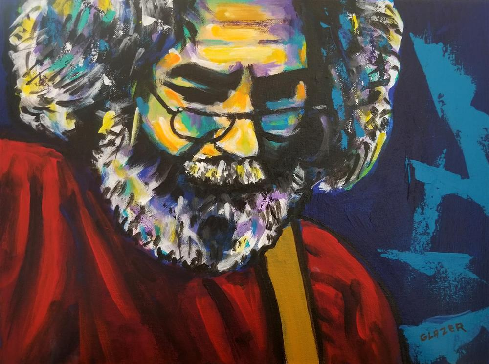 """Jerry Garcia"" original fine art by Stuart Glazer"