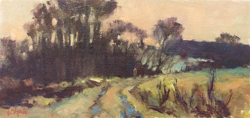 """A Winter Walk"" original fine art by John Shave"