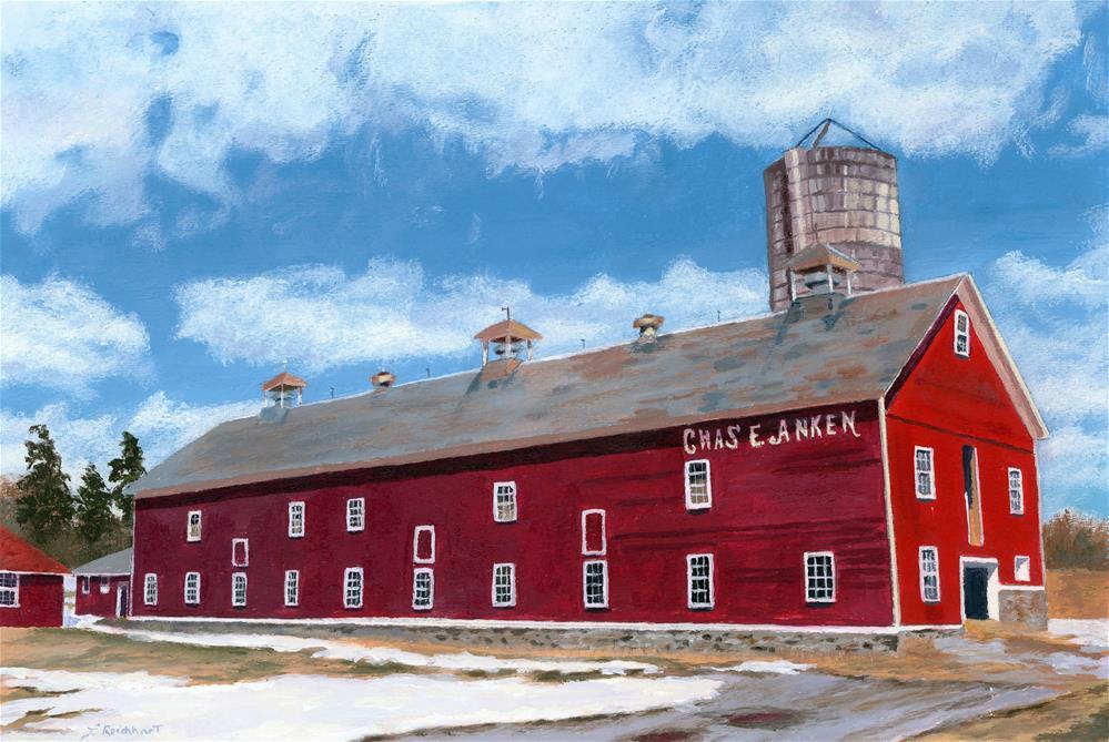 """Anken's Barn"" original fine art by Lynne Reichhart"