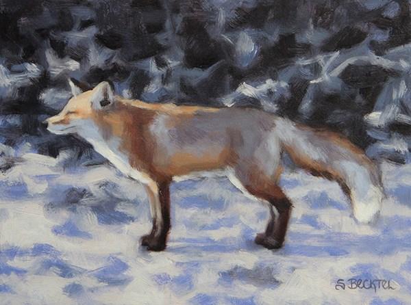 """""""Bask"""" original fine art by Sarah Becktel"""