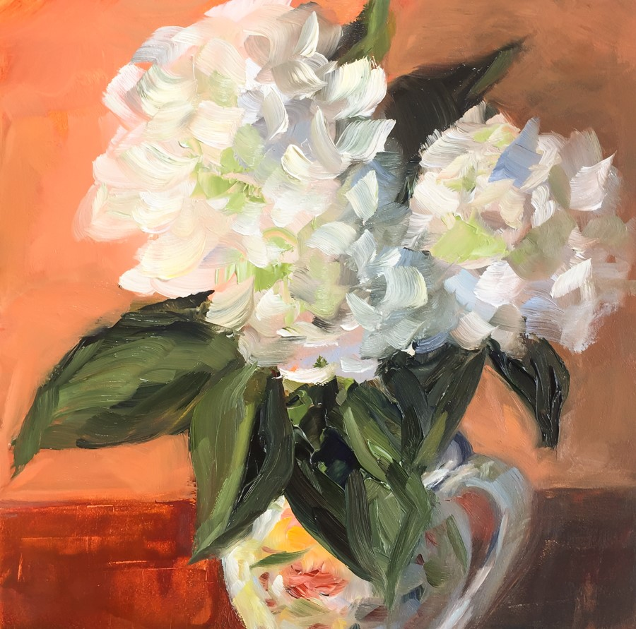"""#95 - Hydrangeas"" original fine art by Sara Gray"