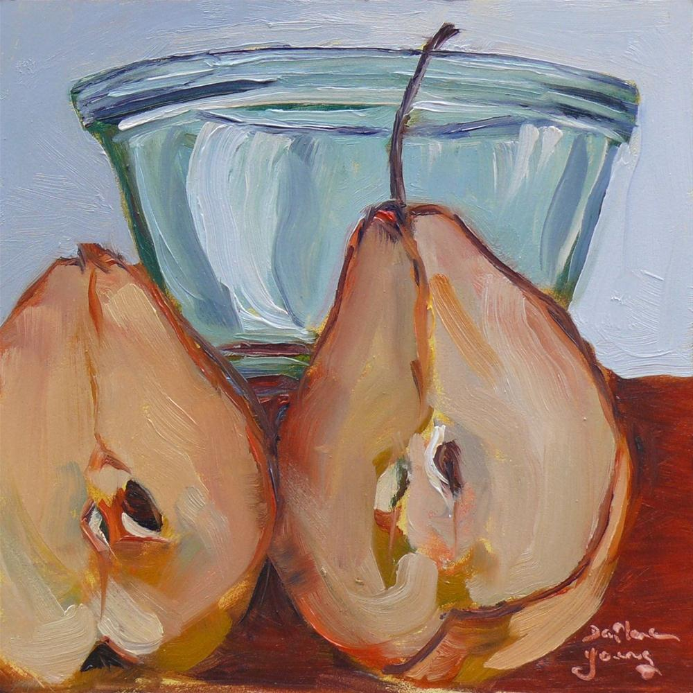"""""""611 Pear Naked"""" original fine art by Darlene Young"""