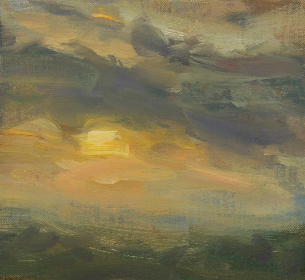 """Summer Sunrise 17"" original fine art by Scott Serafica"
