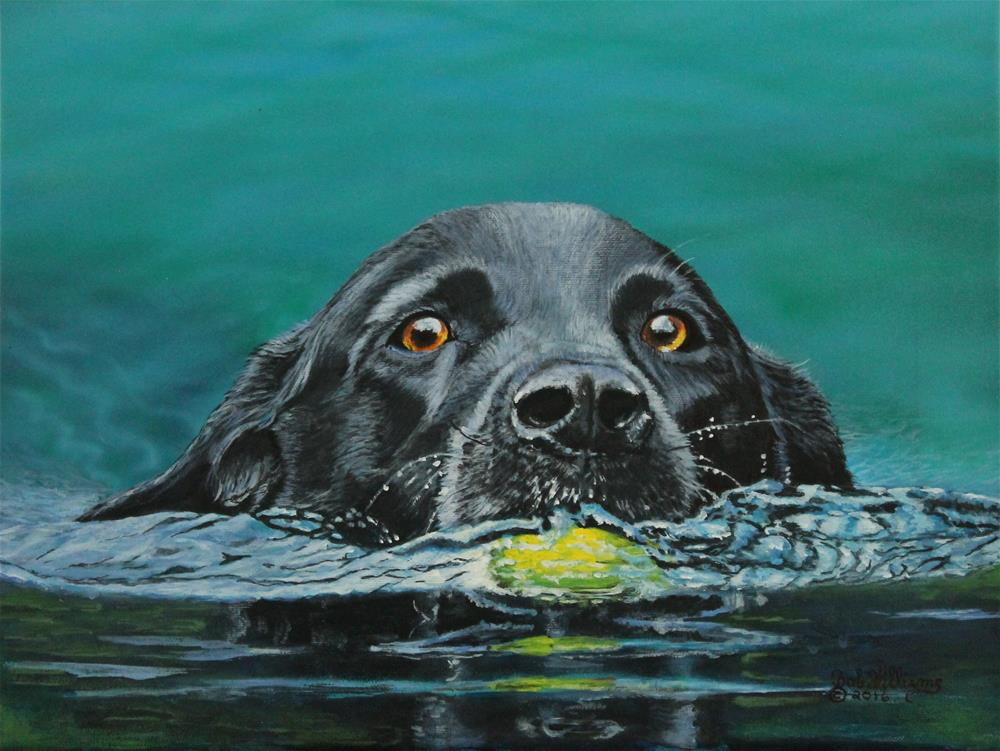 """The Next Time You Fetch It"" original fine art by Bob Williams"