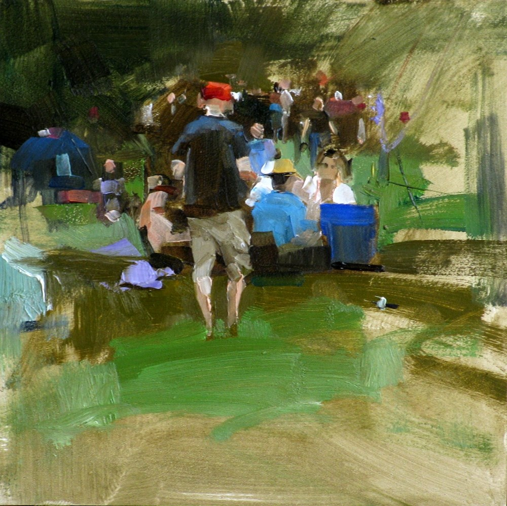 """Party in a Park"" original fine art by Qiang Huang"