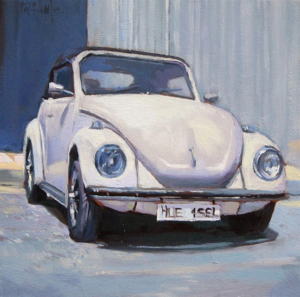"""VW Beetle"" original fine art by Víctor Tristante"