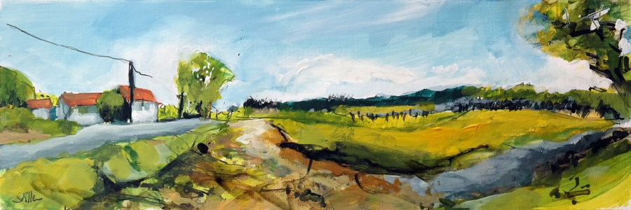 """2462 Acrylic Landscape Sketch III"" original fine art by Dietmar Stiller"
