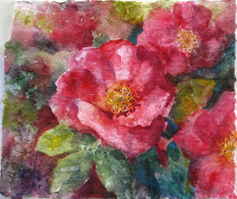 """""""Rose Garden"""" original fine art by Melissa Gannon"""