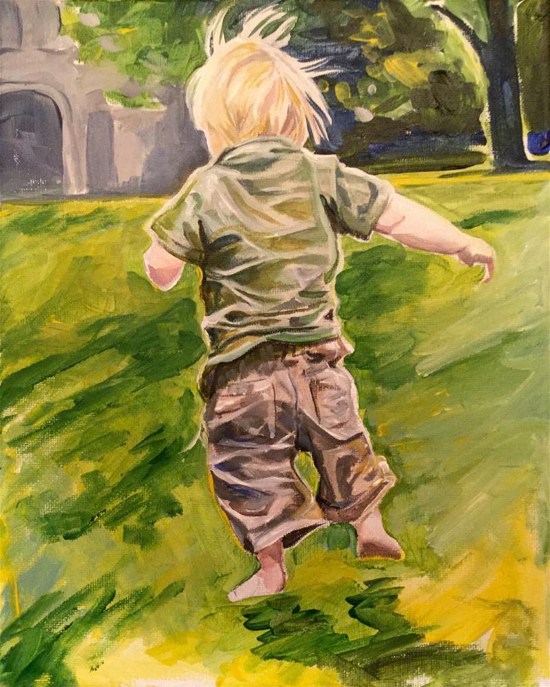 """The Runner"" original fine art by Lauren Kuhn"