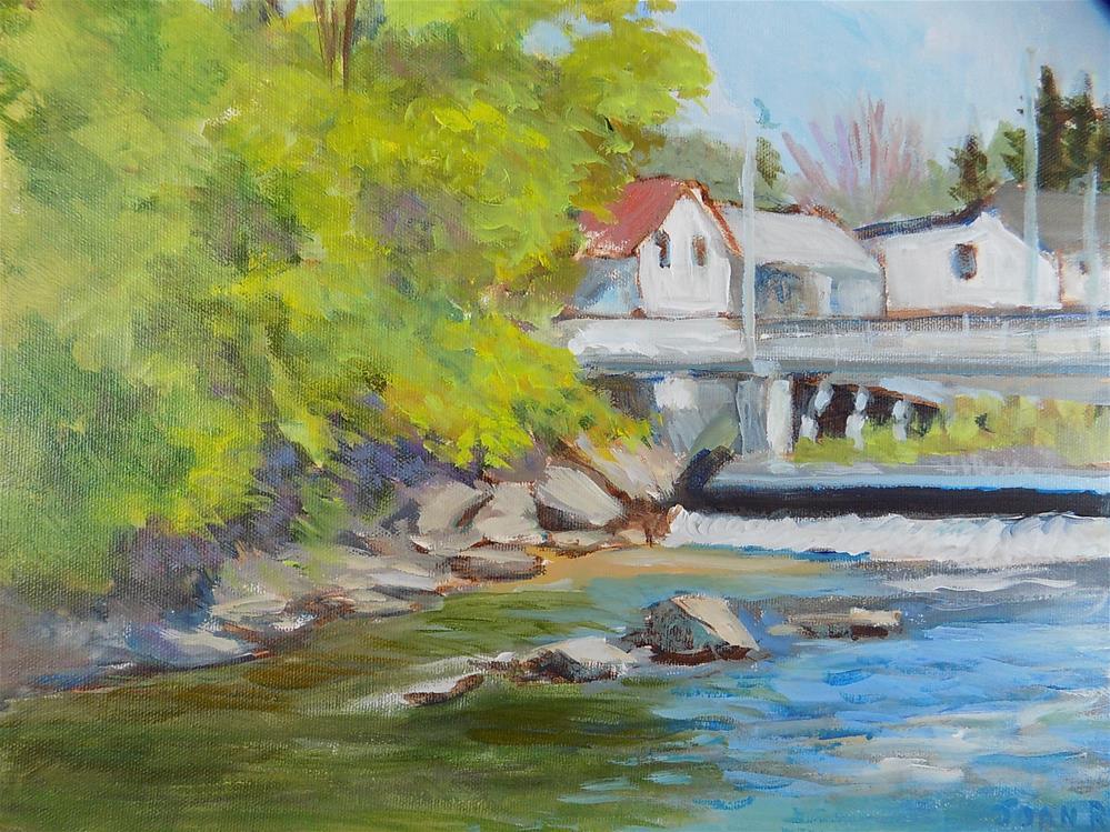 """Spring on the Moira River"" original fine art by Joan Reive"
