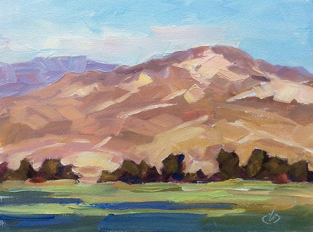 """CALIFORNIA FOOTHILLS"" original fine art by Tom Brown"