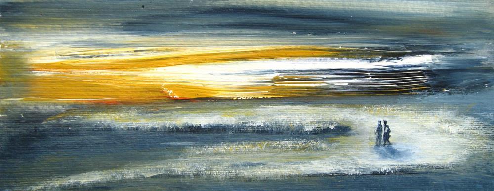"""Winter Walk"" original fine art by Alina Frent"