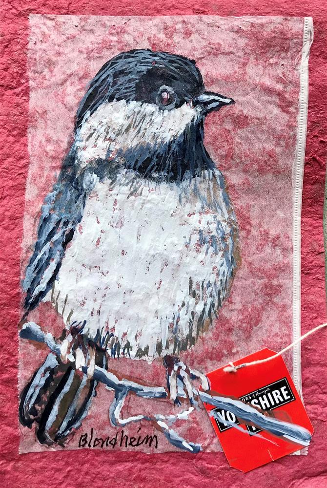 """Black Capped Chicadee"" original fine art by Linda Blondheim"