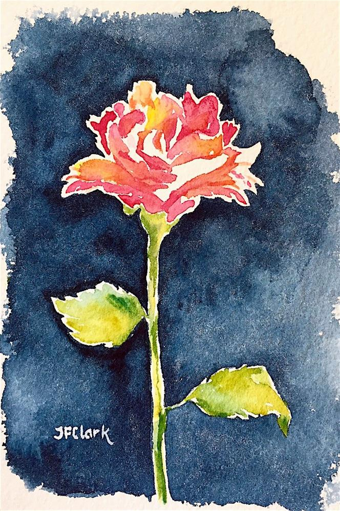 """Rose vignette"" original fine art by Judith Freeman Clark"