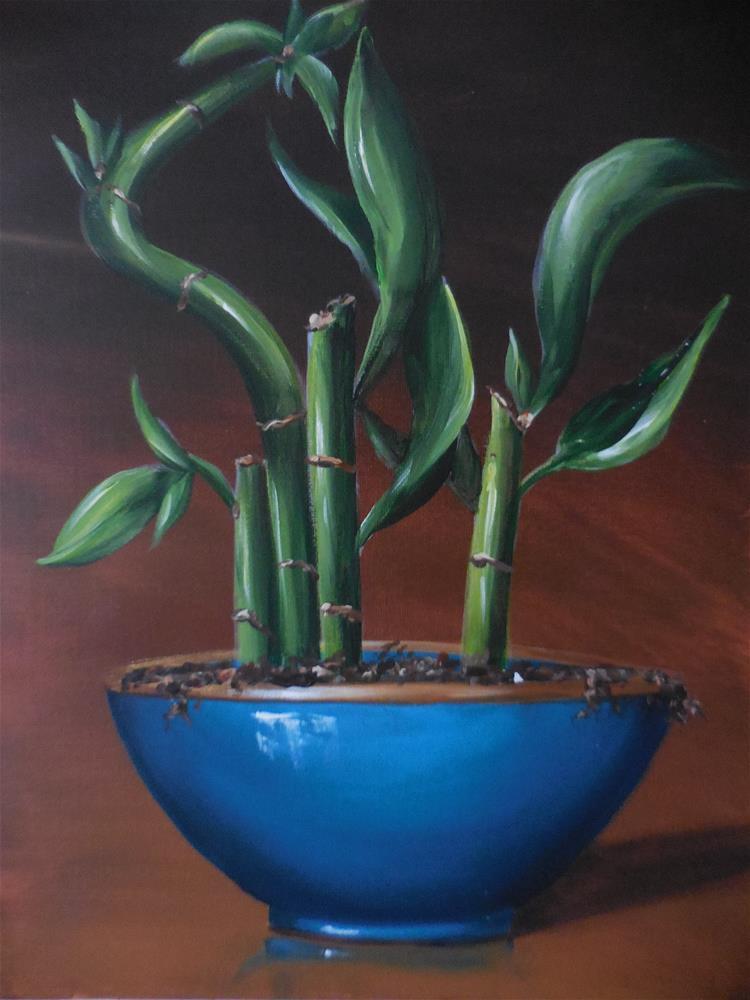 """Lucky Bamboo"" original fine art by Terri Nicholson"