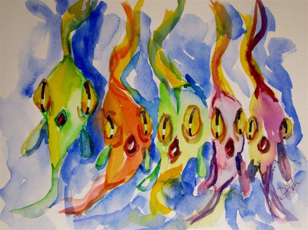 """Big Eyed Fish"" original fine art by Delilah Smith"