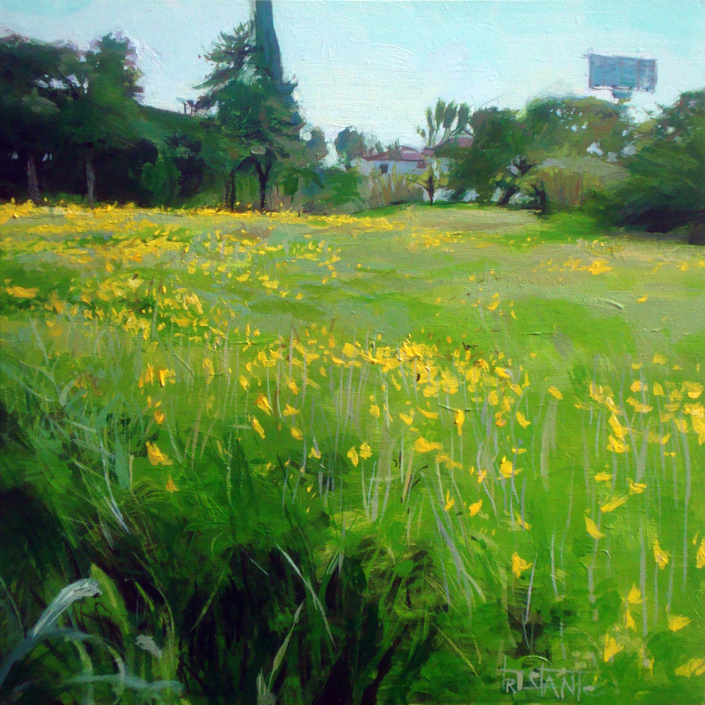 """Field of flowers"" original fine art by Víctor Tristante"