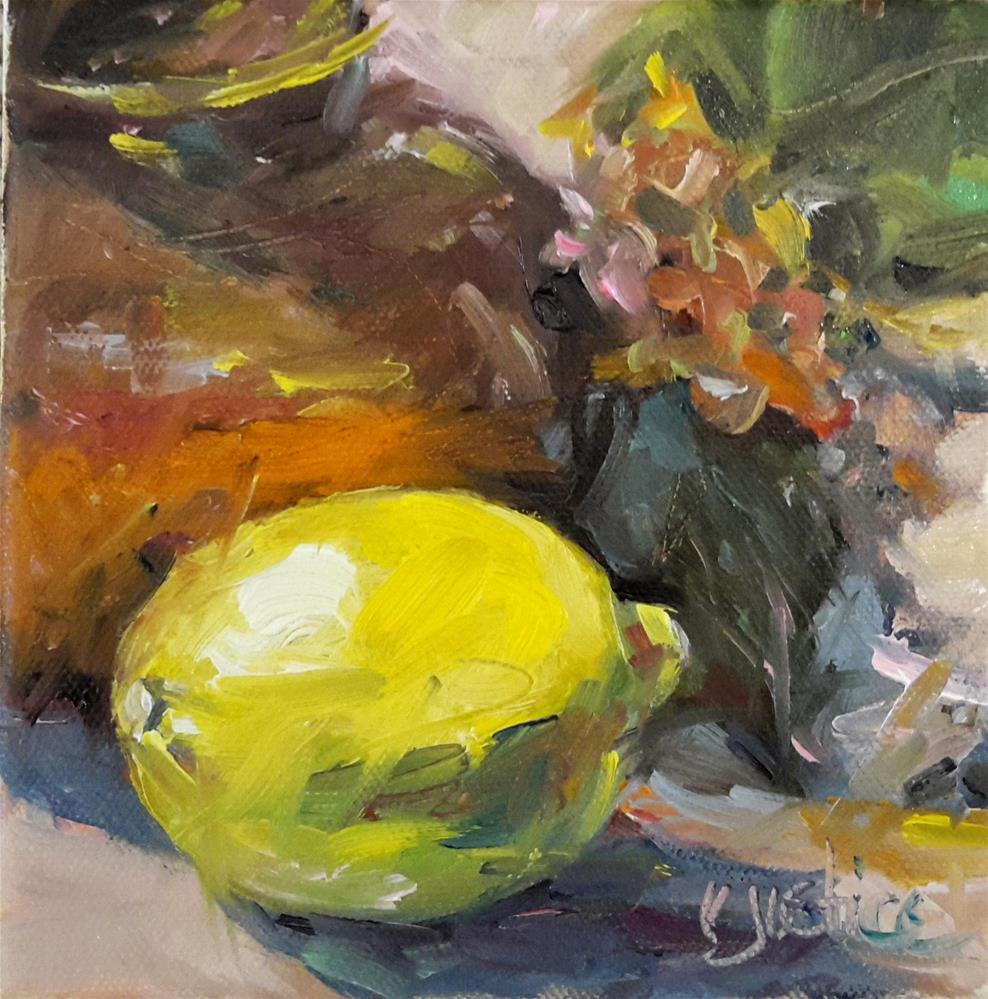 """Lemon Still Life"" original fine art by Rebecca Justice-Schaab"
