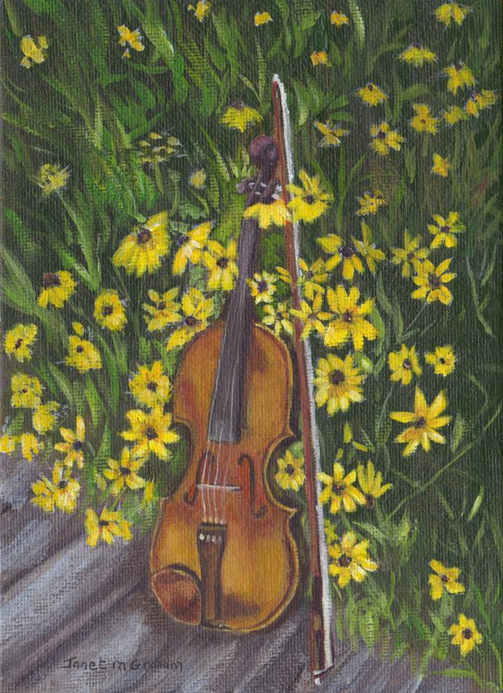 """Symphony of Flowers"" original fine art by Janet Graham"