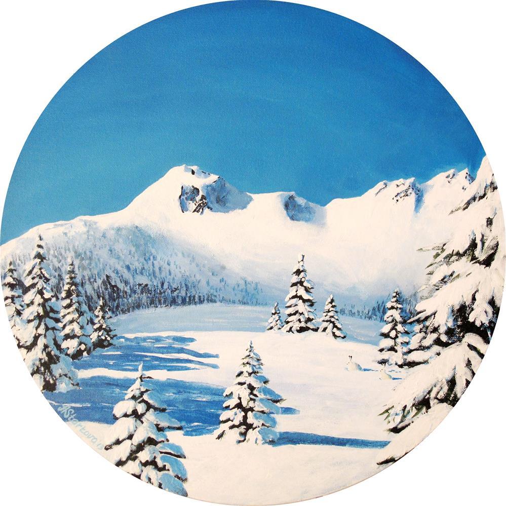 """Winter Solstice"" original fine art by Anna Starkova"