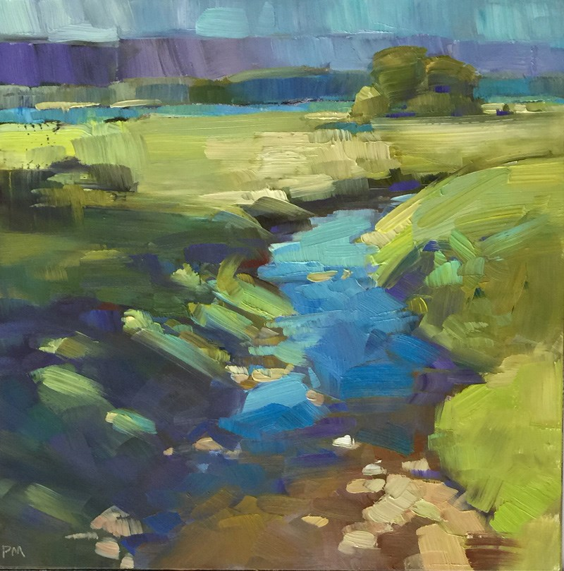 """Row River Color Play"" original fine art by Patti McNutt"