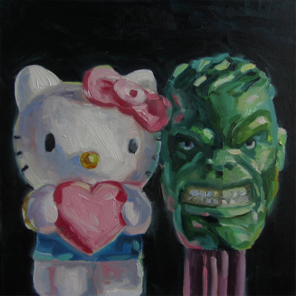 """""""HAPPY VALENTINE'S DAY"""" original fine art by Mb Warner"""
