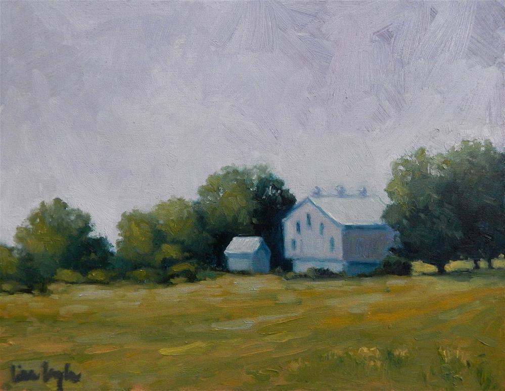 """Pennsylvania Barn"" original fine art by Lisa Kyle"