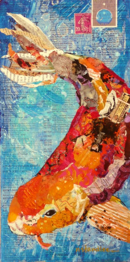 """Koi, 12046 framed NFS"" original fine art by Nancy Standlee"