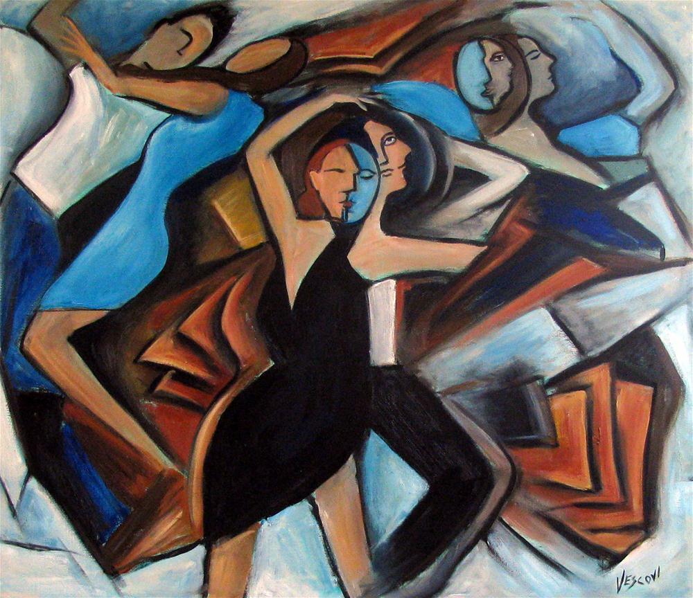 """Bleu Danse"" original fine art by Valerie Vescovi"