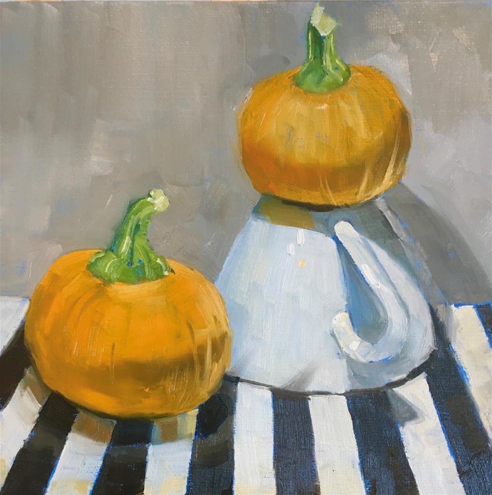 """Pumpkin King"" original fine art by Carol Granger"