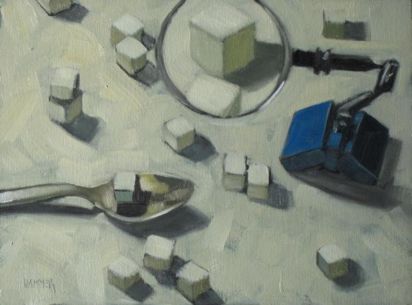 """Sugar Inspection 6x8 oil"" original fine art by Claudia Hammer"