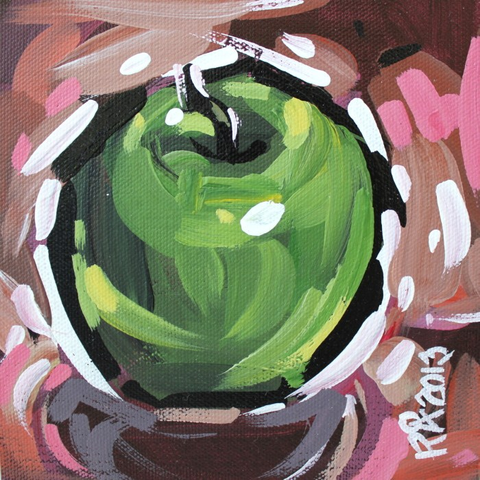 """""""Apple Abstraction 20"""" original fine art by Roger Akesson"""