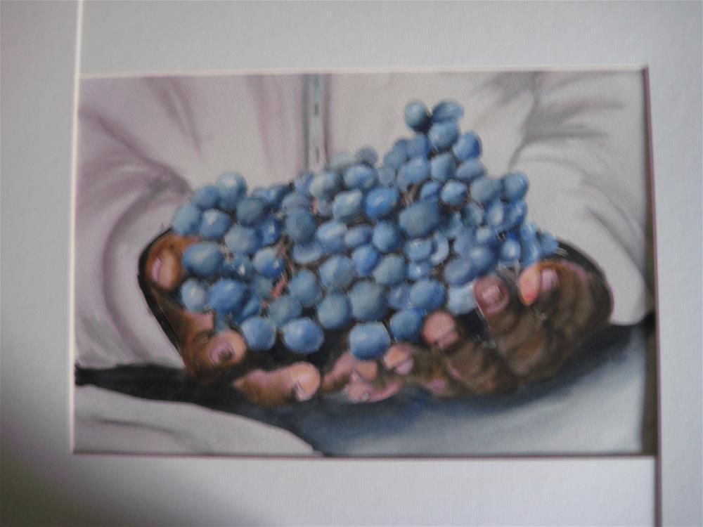 """""""Handful of Blueberries"""" original fine art by Susan Brens"""