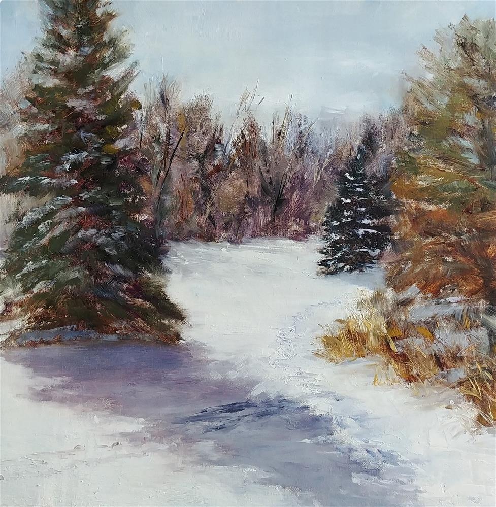 """""""Snow Day"""" original fine art by Nelia Harper"""