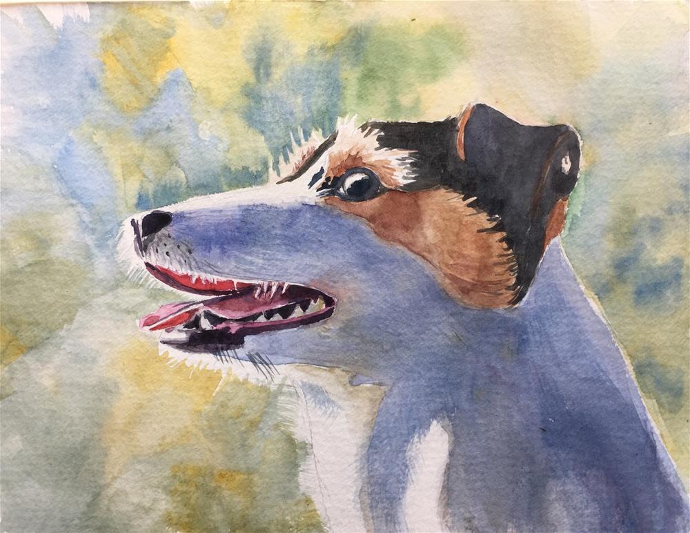 """A dog"" original fine art by Natasha Ramras"