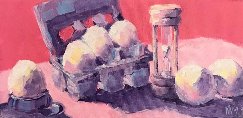 """eggs!"" original fine art by Nora MacPhail"