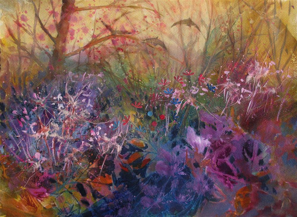 """Flying Over the Woods"" original fine art by Melissa Gannon"