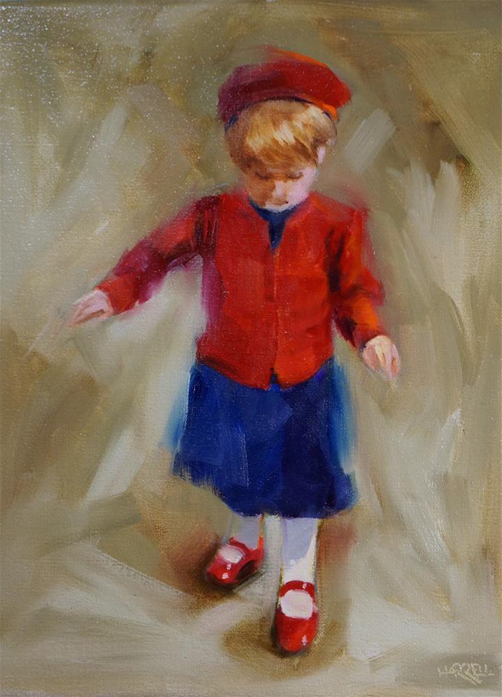 """New Shoes"" original fine art by Sue Harrell"