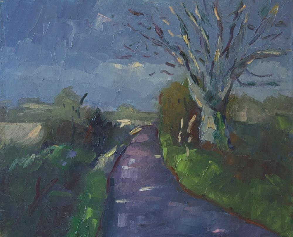 """Lane at Flansham"" original fine art by Andre Pallat"