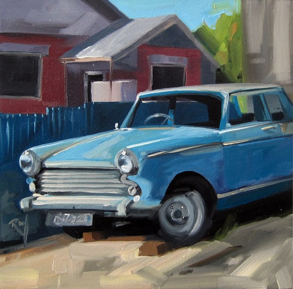 """No 798 Driveway Treasures No 3"" original fine art by Robin J Mitchell"