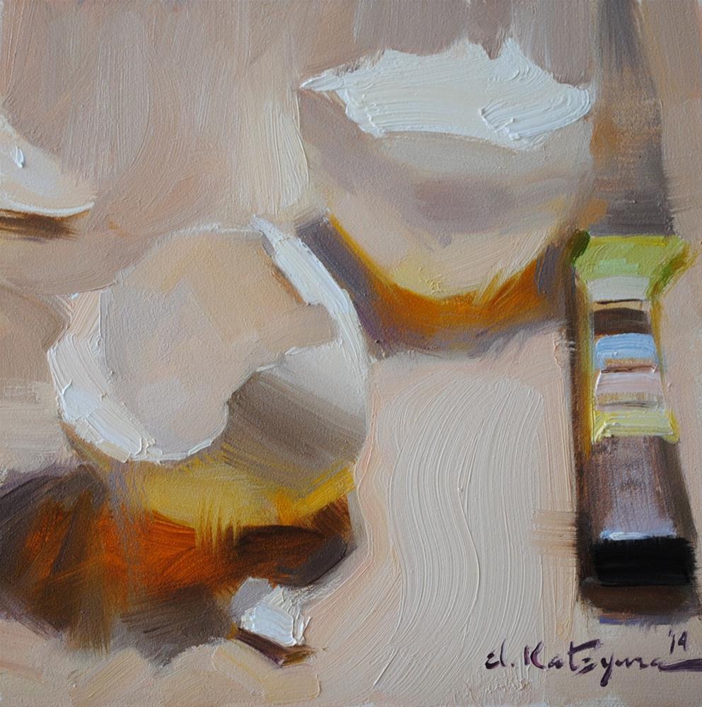 """Shell Shadow"" original fine art by Elena Katsyura"