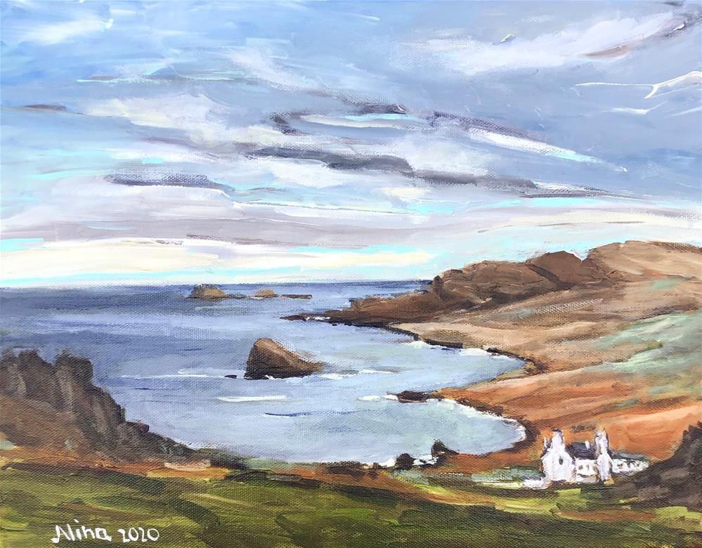 """""""Isle of Skye"""" original fine art by Alina Vidulescu"""