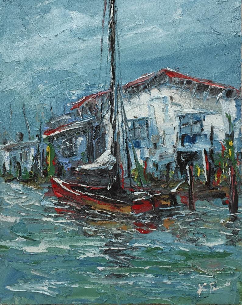 """""""Boat Cottage"""" original fine art by Ken Fraser"""