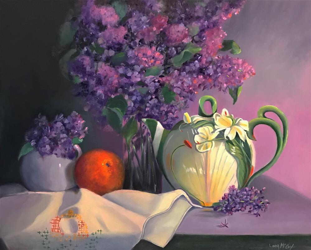"""""""Lilacs"""" original fine art by Linda McCoy"""