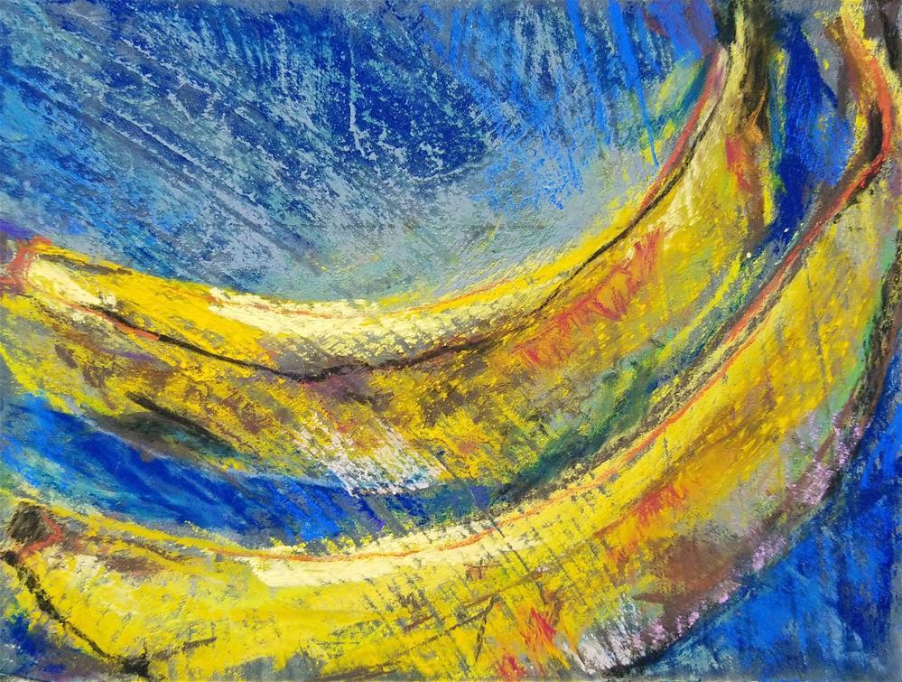 """""""Blue Bananas"""" original fine art by Jean Krueger"""