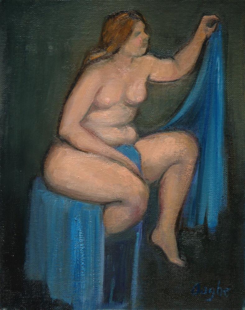 """Nude After Renoir"" original fine art by Angela Ooghe"
