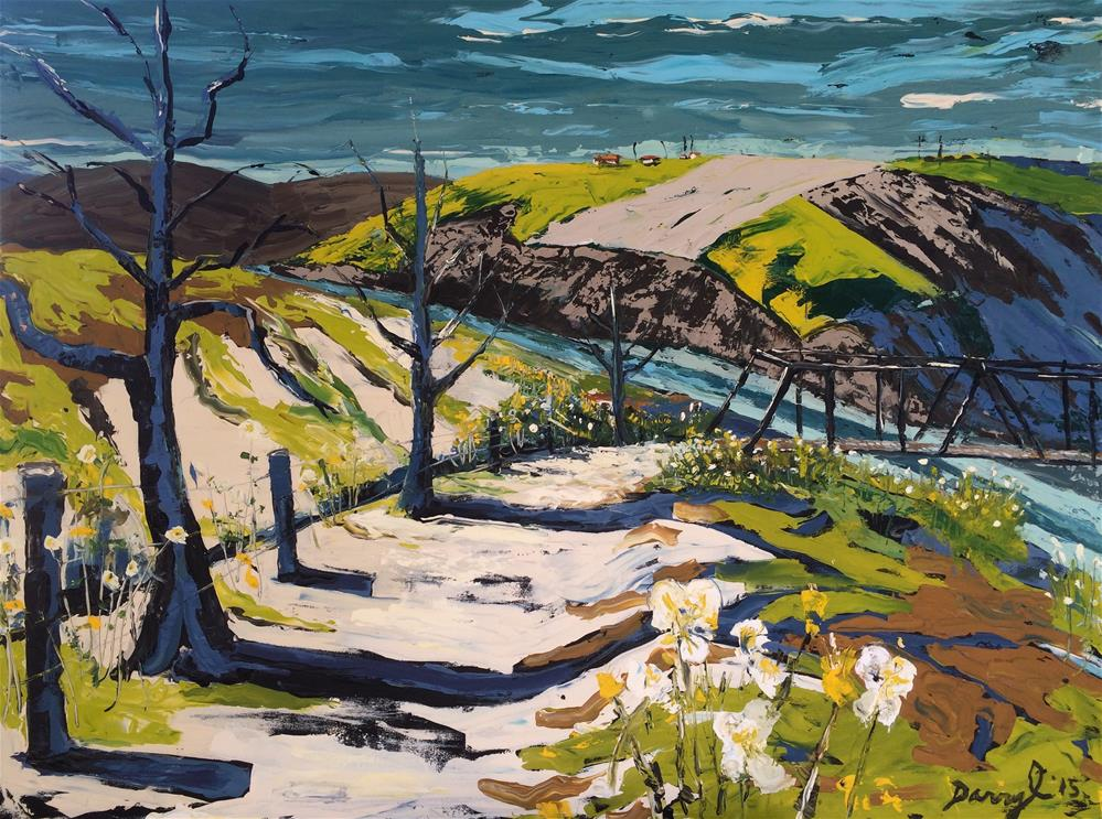 """The Old Trestle Bridge"" original fine art by Darryl Freeman"